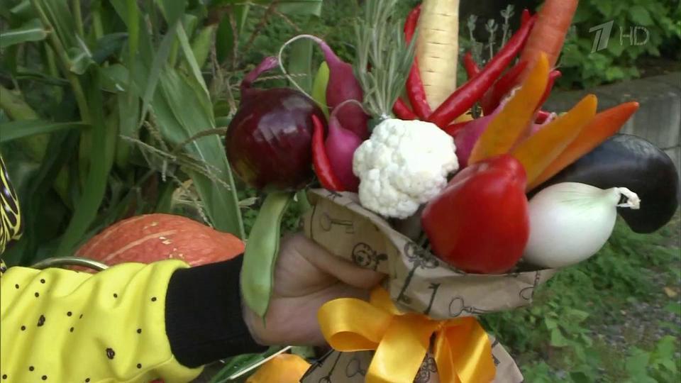Осенние букеты своими руками из овощей 12
