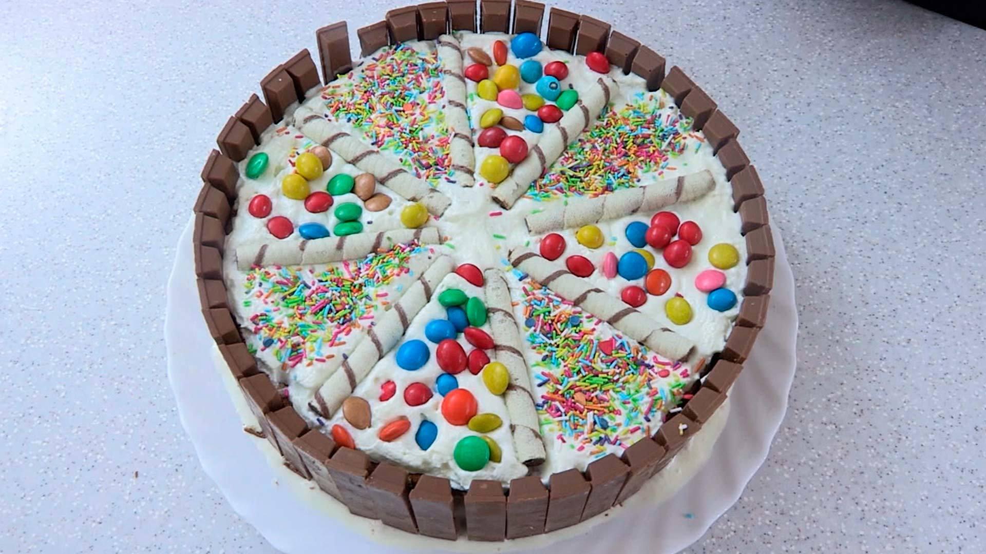 Как красиво сделать торт из коржей 26