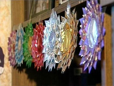 Поделки из конфетных фантиков фото