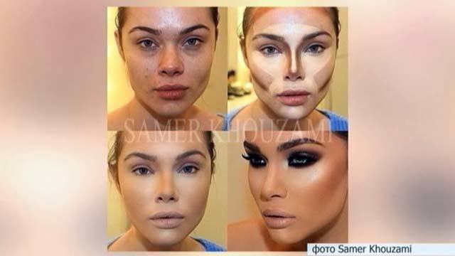 Как сделать лицо на фото как у куклы