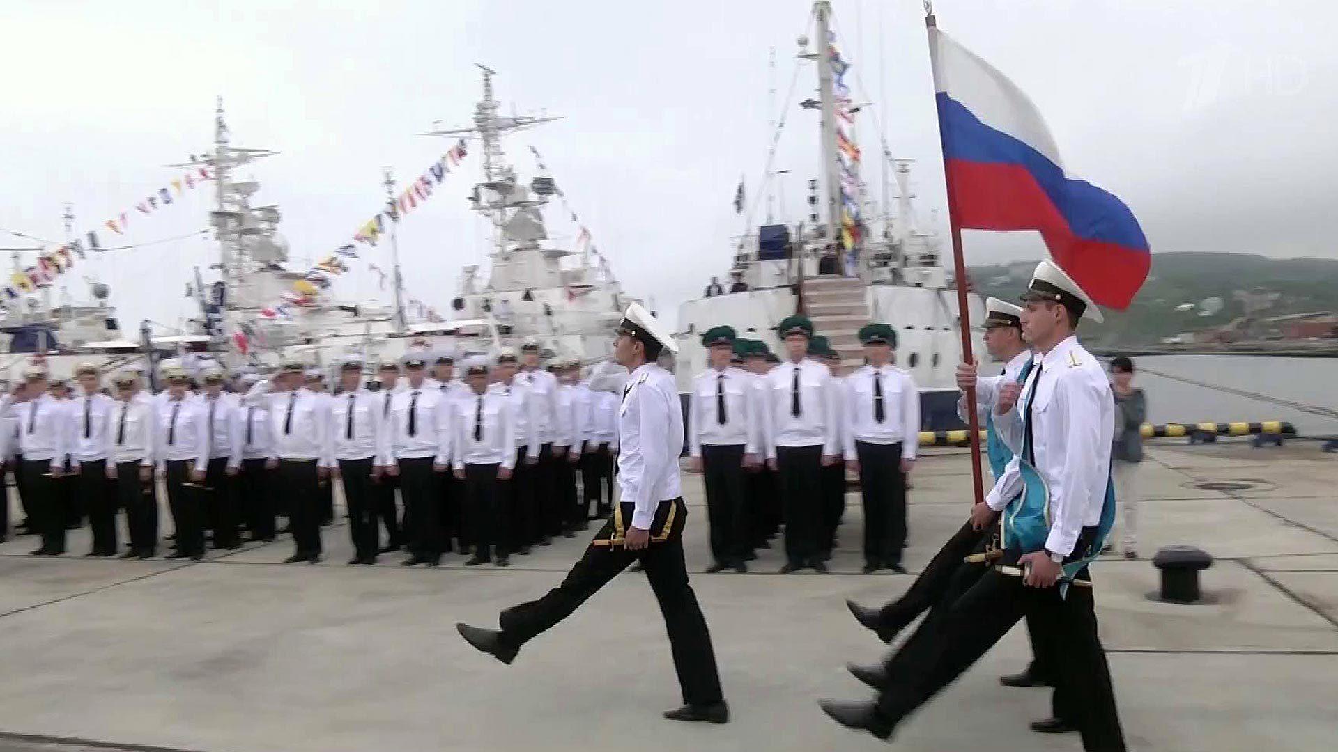 Поздравление морякам пограничникам