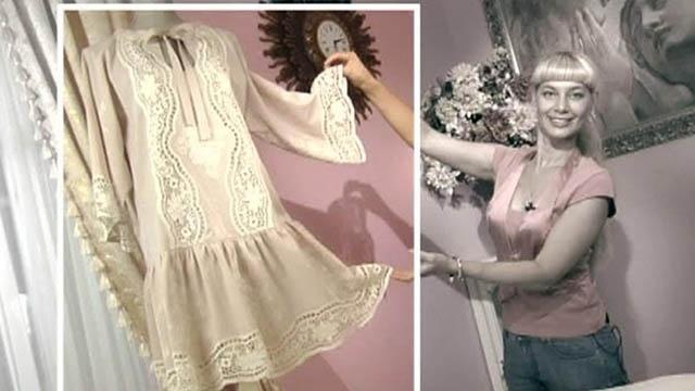 Блузка в деревенском стиле своими руками