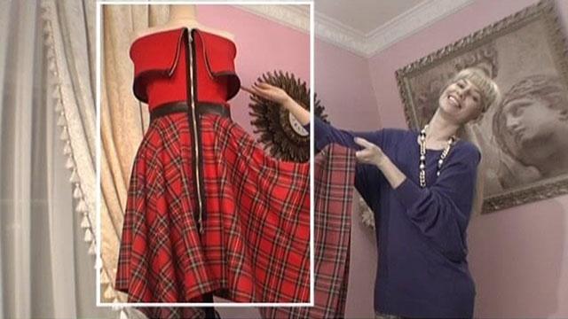 Платье из квадратов сшитое