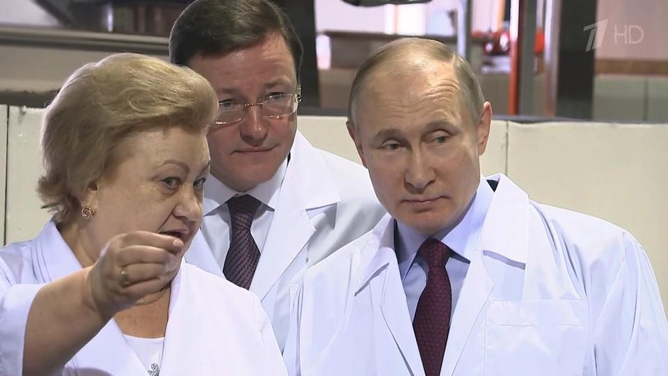 Путин в самаре 7 марта фото