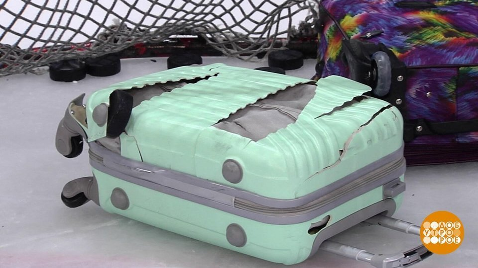 29994a026be4 Краш-тест чемоданов. Доброе утро. Фрагмент выпуска от 04.06.2019