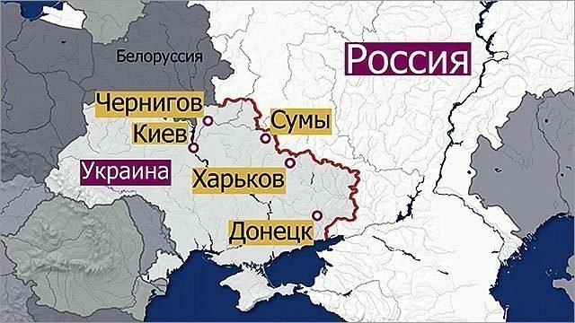 граница украины и россии на карте подробно куст может распространиться