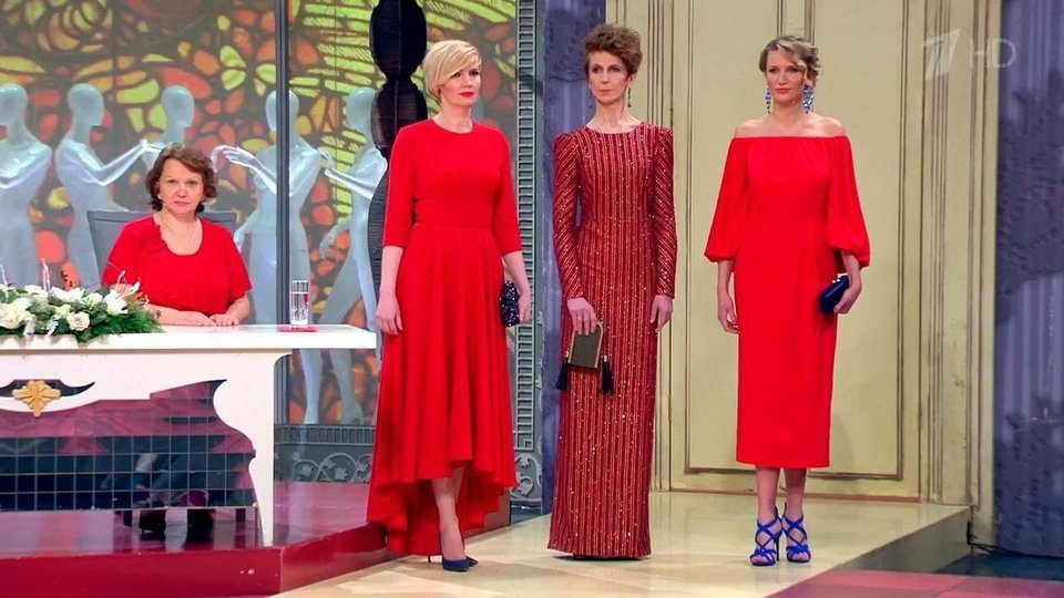 Красные платья от хромченко