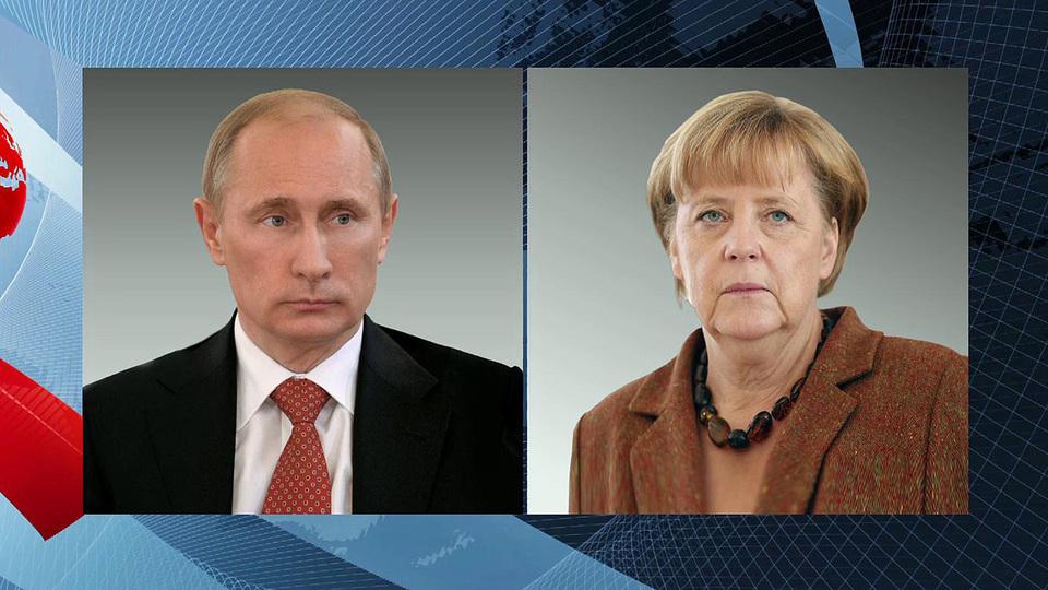 Путин поговорил с Меркель