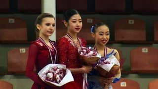 Церемония награждения. Девушки. Riga Cup. Гран-при по фигурному катанию 2019/2020