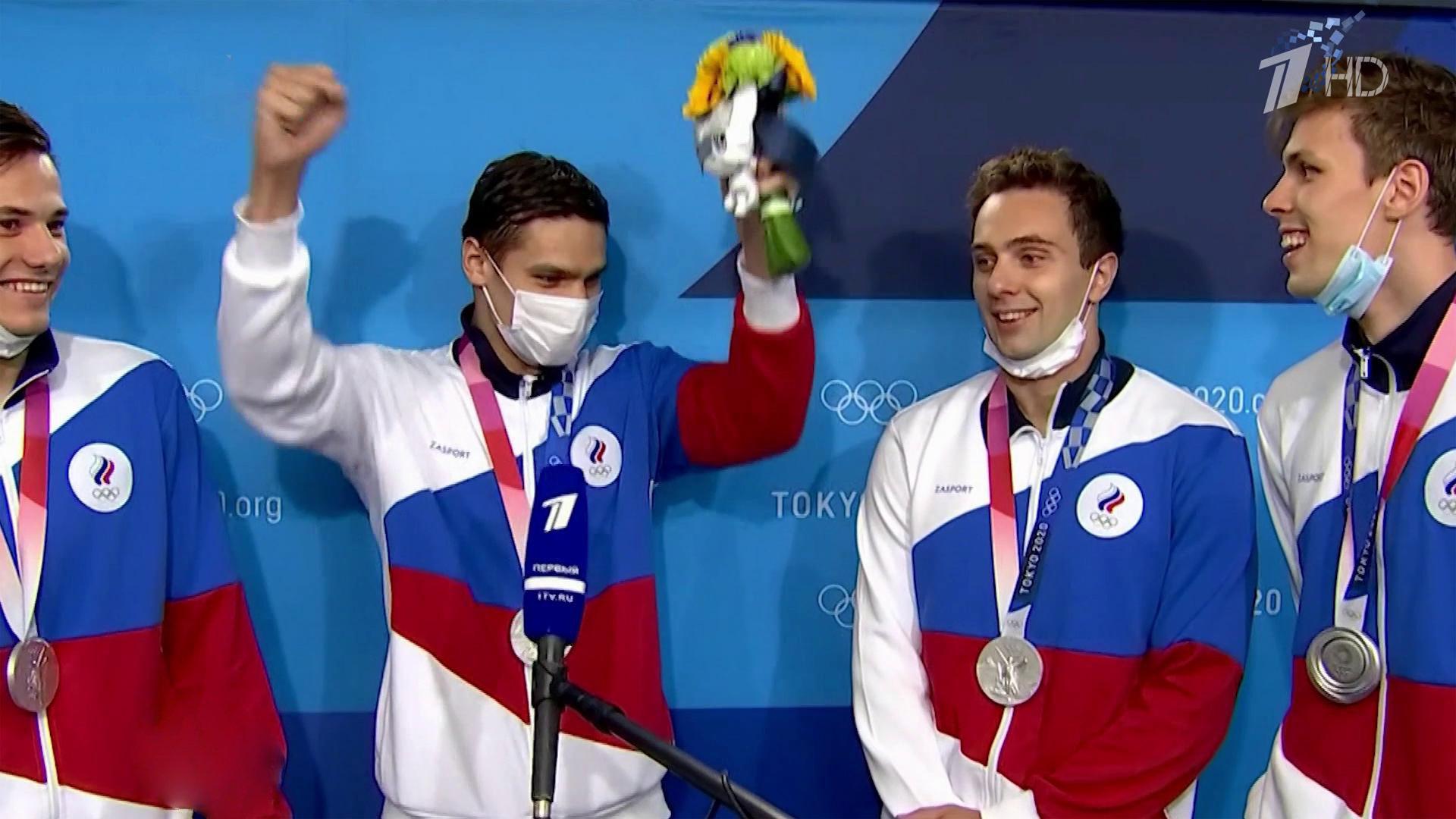 Новый успех российских пловцов наОлимпиаде вТокио— серебро вэстафете вольным стилем