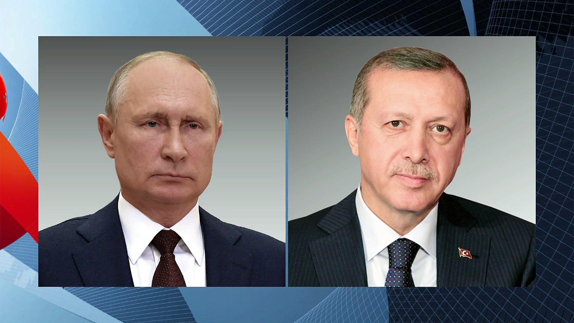 Владимир Путин иРеджеп Тайип Эрдоган обсудили потелефону двустороннее сотрудничество России иТурции