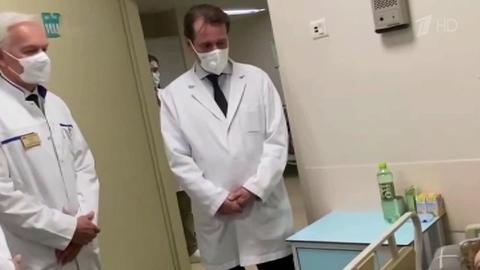 Глава Минздрава навестил пациентов, которые после трагедии вПерми проходят лечение встолице