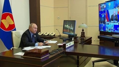 Владимир Путин врежиме видеоконференции принял участие вВосточноазиатском саммите